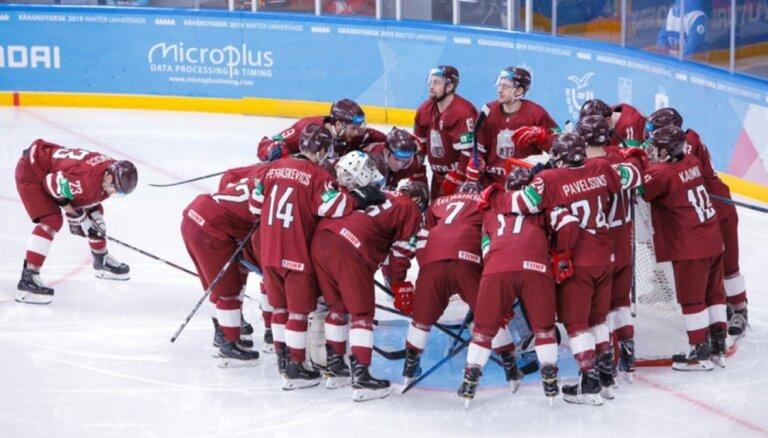 Latvijas hokejisti kapitulē Universiādes mačā pret Kazahstānu