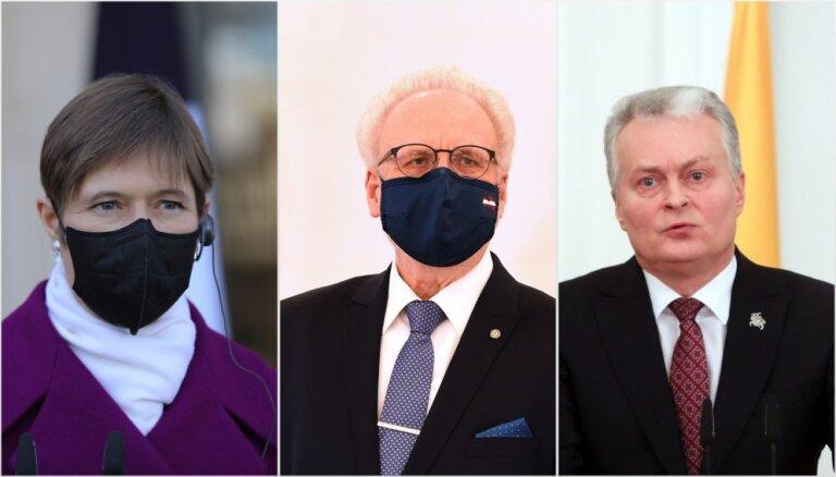 Baltijas valstu prezidenti nosoda Baltkrievijas veikto pasažieru lidmašīnas sagrābšanu