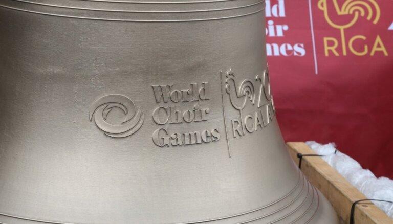 Rīgā atkal dimdēs Koru olimpiādes Miera zvans