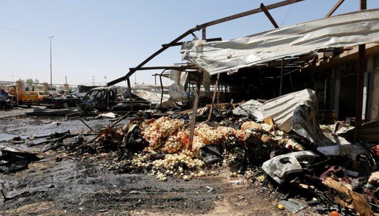 Spridzinātājs-pašnāvnieks Bagdādē nogalina 11 cilvēkus