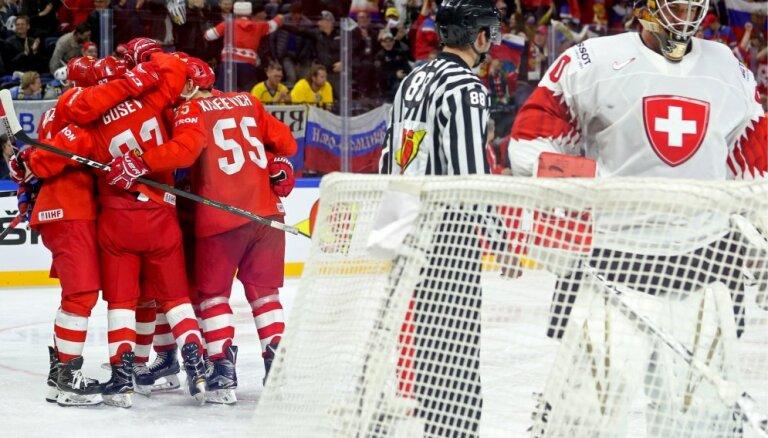 Сборная России одолела Швейцарию и отпраздновала четвертую победу в пяти матчах ЧМ