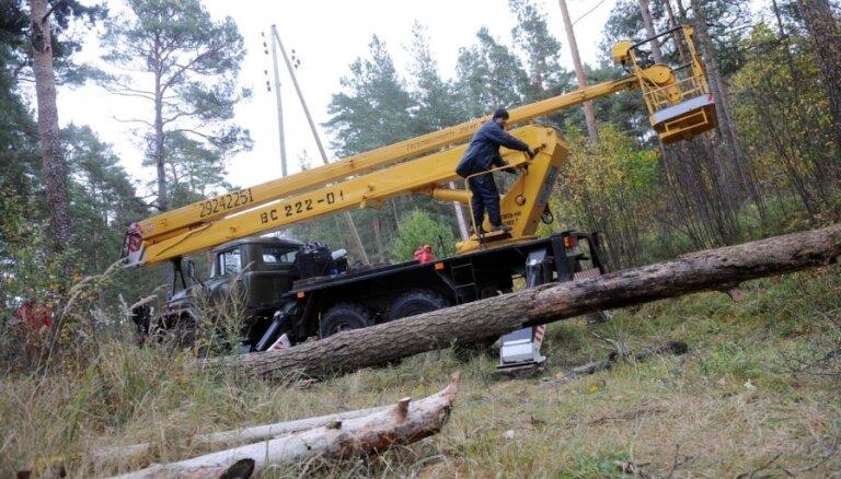 Ķekavā, Baldonē un Olainē traucēta elektroapgāde aptuveni 10 500 klientiem