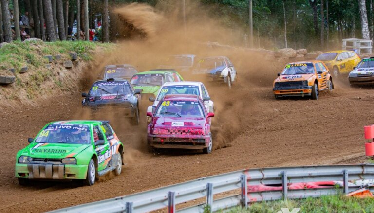 Spēcīgā konkurencē noskaidroti Latvijas autokrosa čempionāta atklāšanas posma uzvarētāji