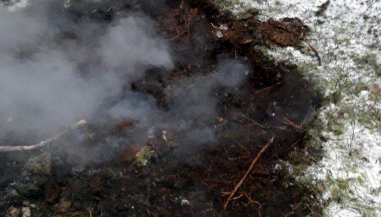Jaunciemā vairākas vietās aizdedzies mežs un uguns strauji izplatās