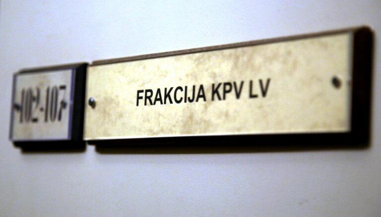 'Gobzema piecnieku' no 'KPV LV' frakcijas neizslēdz; strādās visi 16 deputāti