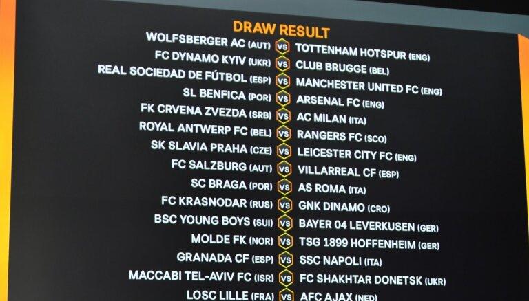 UEFA Eiropas izlozē noskaidroti 'play off' pirmās kārtas pāri