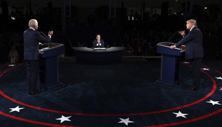 Tramps pret Baidenu: organizētāji sola mainīt debašu formātu