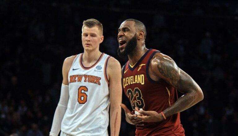 Porziņģis un Džeimss varēja kļūt par komandas biedriem 'Knicks' rindās