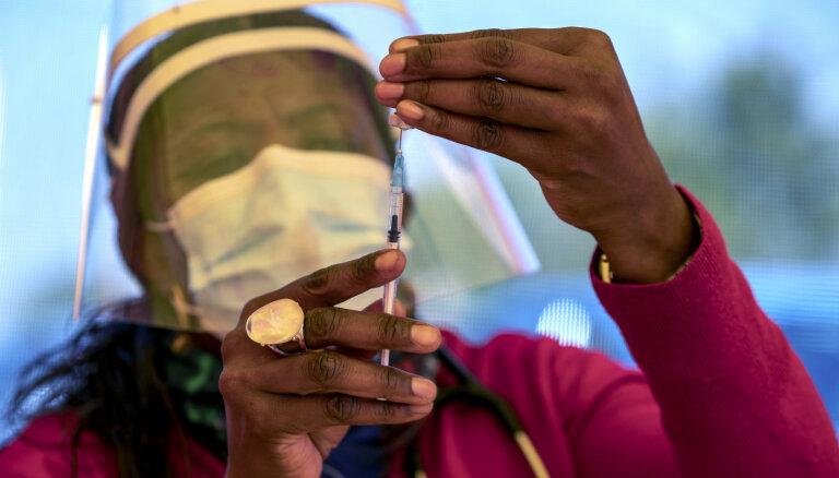 Āfrikai sešu nedēļu laikā nepieciešami 20 miljoni 'AstraZeneca' otro devu, paziņo PVO