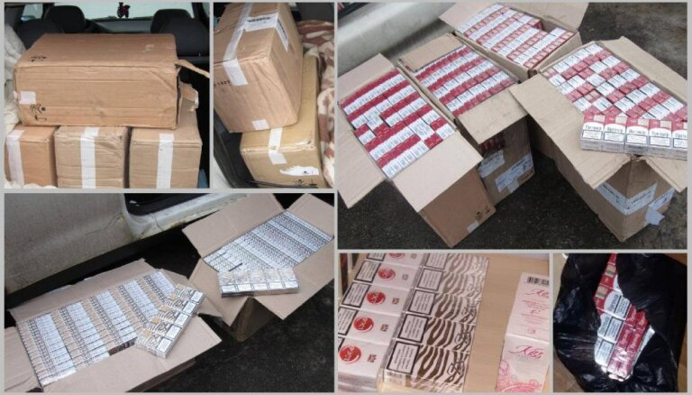 Ķerot dzērājšoferus, Baldonē automašīnā atrod 60 000 kontrabandas cigarešu