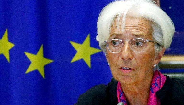 На первом заседании с новым руководителем ЕЦБ сохранил процентные ставки без изменений