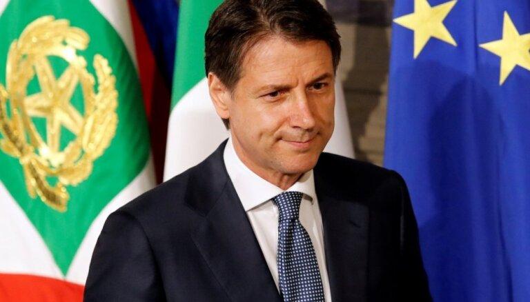 'Dzelteno vestu' protesti sekmēja domstarpību atrisināšanu ar EK, saka Itālijas premjers