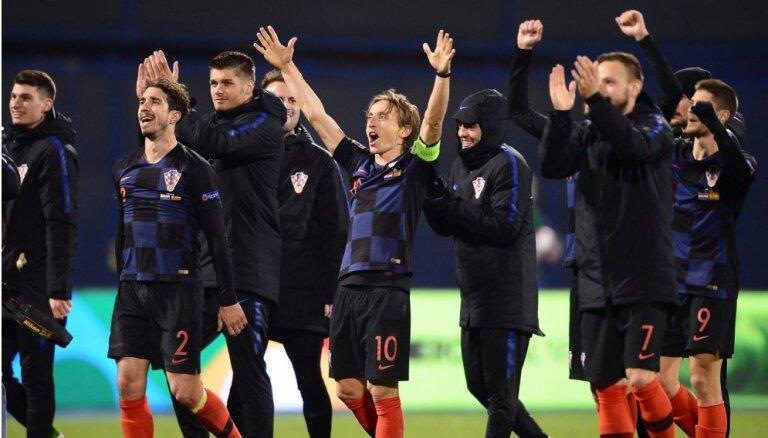 UEFA Nāciju līga: Horvātija atriebjas Spānijai, Igaunija krīt, Somija kāpj