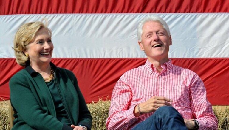 Bērziņš vizītē Latvijā ielūdz ierasties ASV bijušo prezidentu Bilu Klintonu un viņa dzīvesbiedri