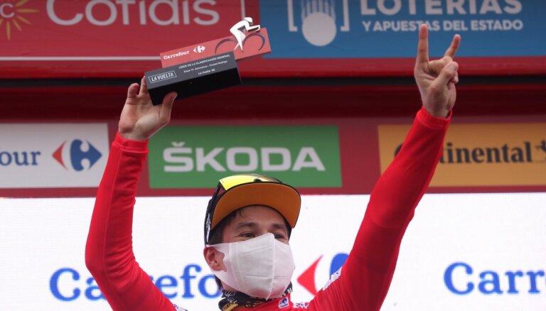 'Vuelta a Espana': Liepiņš otrā simta sākumā; Rogličs palielina pārsvaru