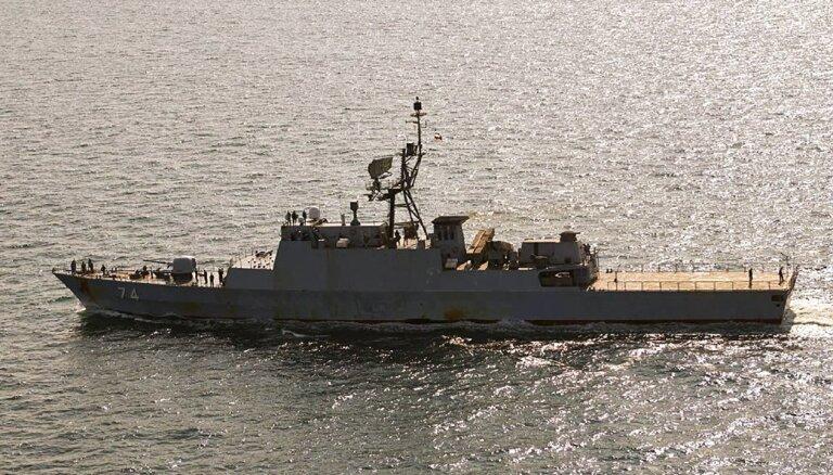 Igaunijas teritoriālajos ūdeņos bez atļaujas iebraucis Irānas karakuģis