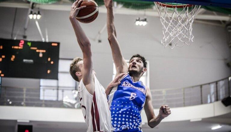 Latvijas U-20 basketbolisti EČ otrās divīzijas mačā sagrauj Azerbaidžānu