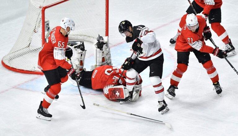 Noskaidroti pasaules hokeja čempionāta ceturtdaļfināla pāri