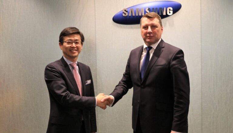 Вейонис договорился с Samsung о создании в Риге центра исследований и развития