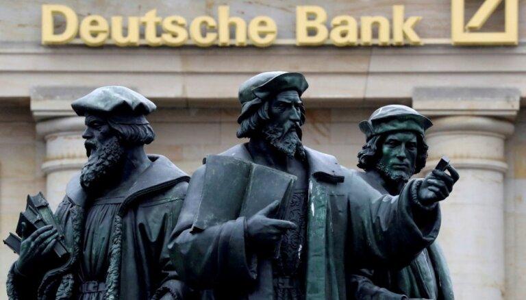Aizdomās par naudas atmazgāšanu Vācijas policija veic kratīšanas 'Deutsche Bank'