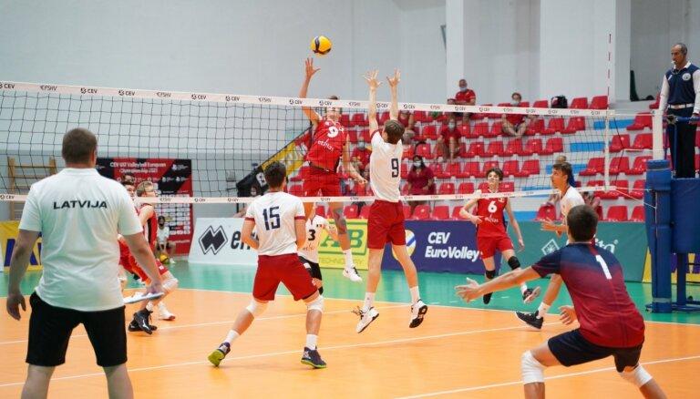 Latvijas U-17 volejbolisti Eiropas čempionātu noslēdz astotajā vietā