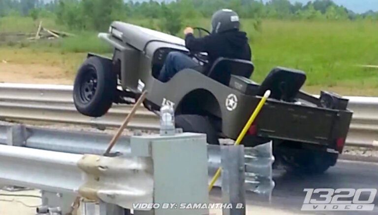 Video: Klasiskais 'Jeep Willys' apvidnieks ar 1000 ZS
