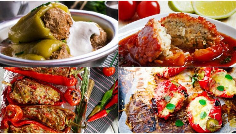 Pildīta paprika gardām vakariņām: 12 receptes sautēšanai, tvaicēšanai un grilēšanai