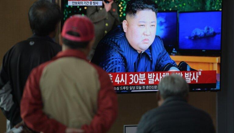 Ziemeļkoreja izšāvusi divas īsa darbības rādiusa raķetes, ziņo Dienvidkoreja
