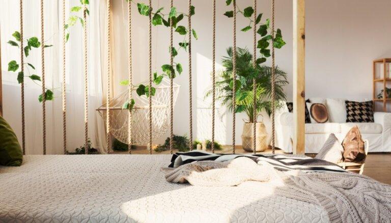 Interesantas idejas, kā telpu sadalīt vairākās zonās
