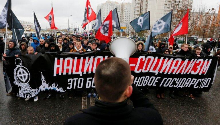 Neonacisma uzplaukums? Kā Krievijas DP sekretārs divkosīgi spriež par situāciju Latvijā
