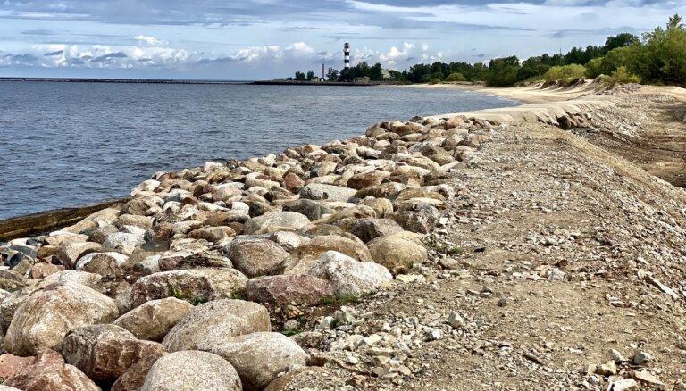 Pabeigti Daugavgrīvas krasta nostiprinājuma dambja remontdarbi