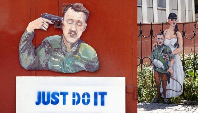 'Strelkov, vienkārši dari to' un Motorola ar velna kājām: stāsts par mākslas pretestību Doņeckā