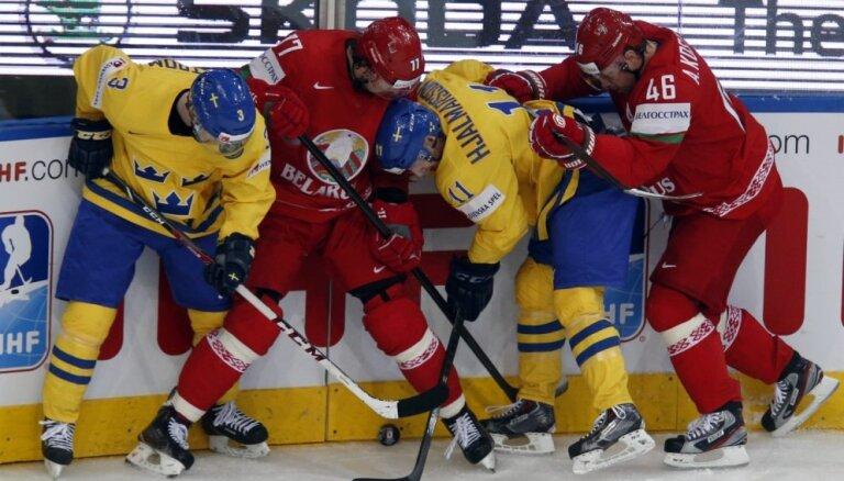 Zviedrija neļauj mājiniecei Baltkrievijai iekļūt pasaules čempionāta pusfinālā