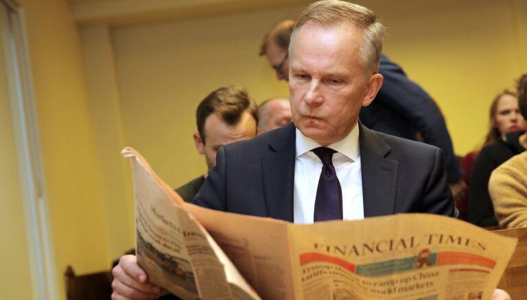 Rimšēvičs pērn Latvijas Bankas prezidenta amatā nopelnījis gandrīz 140 000 eiro