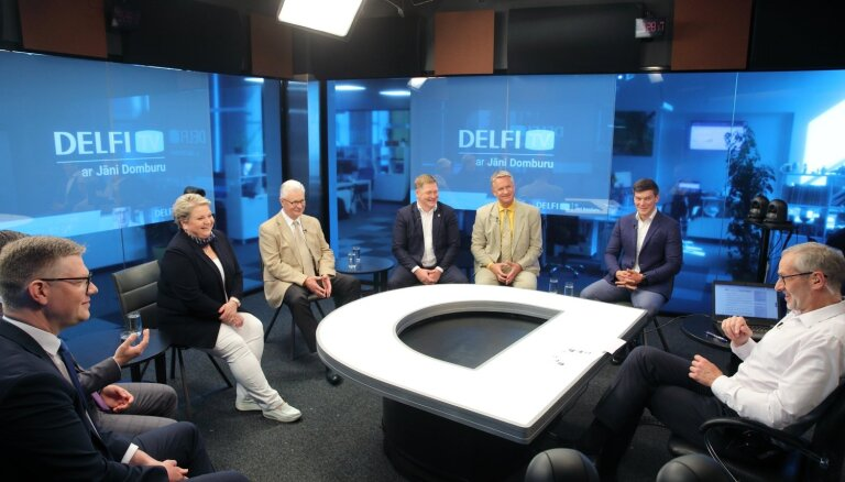 'Delfi TV ar Jāni Domburu' – atbild Rīgas mērs un frakciju vadītāji. Diskusijas teksts