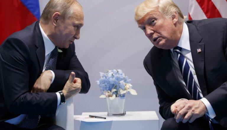 Tramps no tikšanās ar Putinu īpašus rezultātus negaida