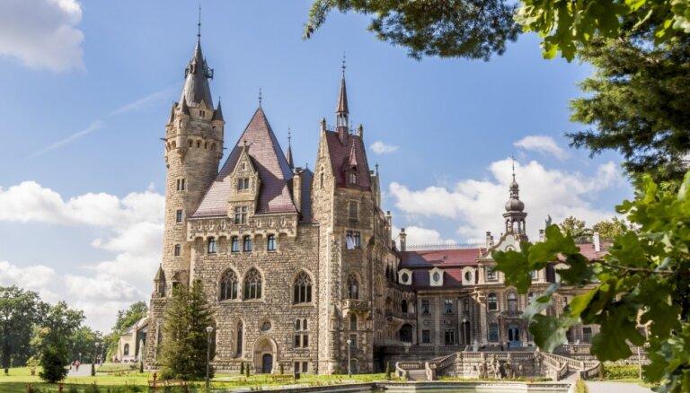 Deviņas greznas un brīnumskaistas pilis Polijā
