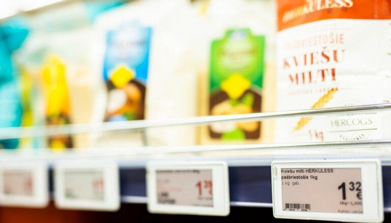 Patēriņa cenas maijā Latvijā gada laikā pieaugušas par 2,6%