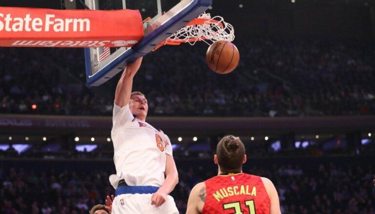 Video: Porziņģis labākais no Ņujorkas 'Knicks' NBA sezonas labāko 'danku' izlasē
