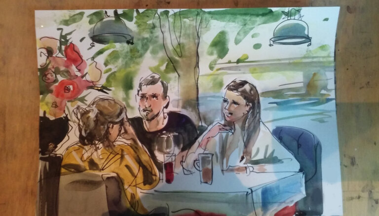 """""""Зачем столько кисточек?"""". Необычное хобби — рисовать посетителей ресторана"""