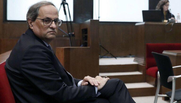 Katalonijas premjeru tiesā par nepakļaušanos