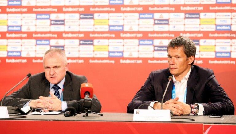 Latvijas galvenās basketbola amatpersonas ar gandarījumu atskatās uz 'Eurobasket 2015' norisi Rīgā