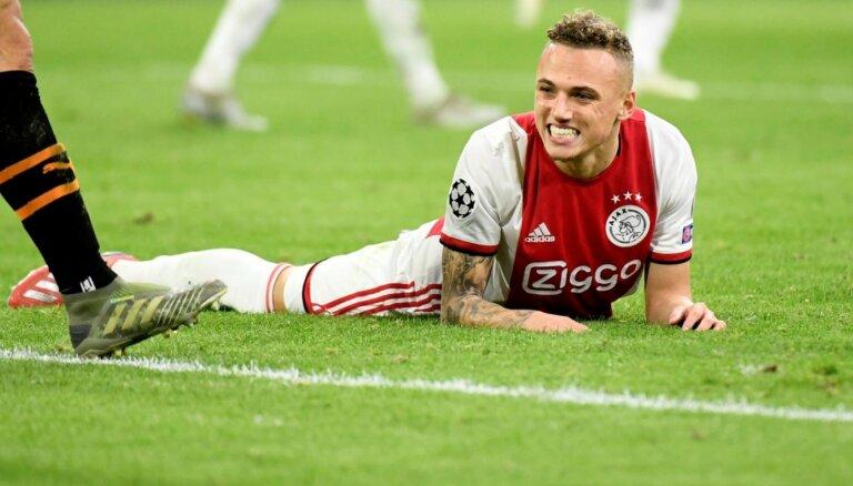 'Ajax' un 'Inter' piedzīvo sāpīgus zaudējumus un netiek Čempionu līgas 'play-off'