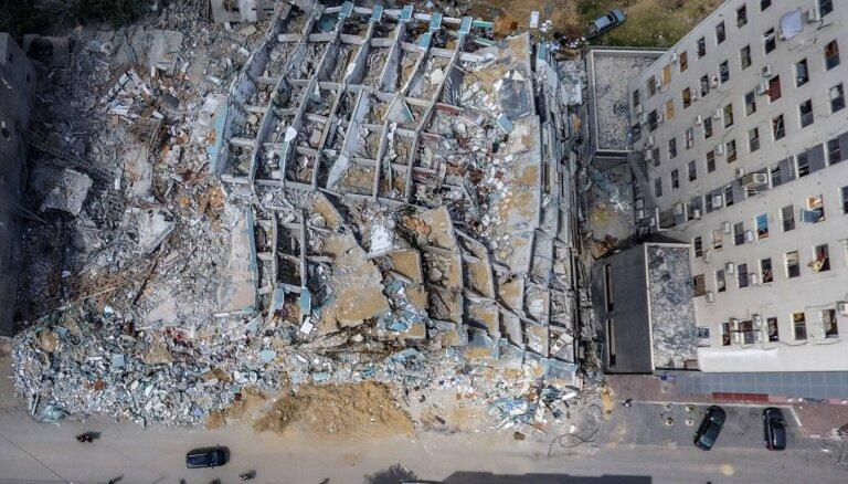 Gazā sagrautā augstceltne tika izmantota elektroniskajā karadarbībā pret 'Dzelzs kupolu', apgalvo Izraēla