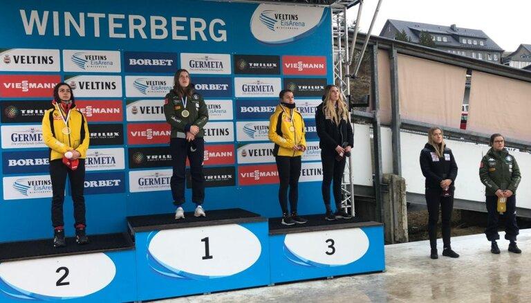 Sigita Bērziņa izcīna bronzu Eiropas junioru čempionātā kamaniņu sportā