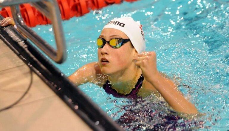 Ieva Maļuka ar jaunu Latvijas rekordu izcīna piekto vietu Eiropas junioru čempionātā peldēšanā