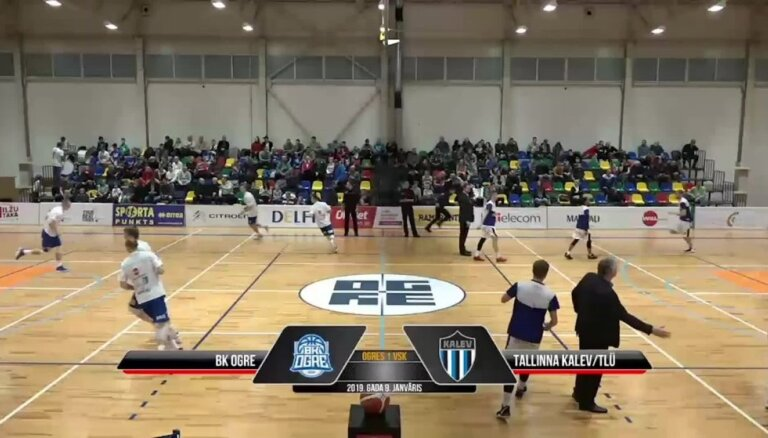 'OlyBet' basketbola līga: 'Ogre' - Tallinas 'Kalev/TLU'. Spēles labākie momenti