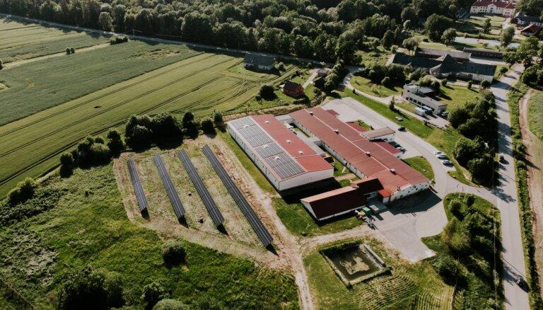 Установлен самый большой парк солнечных панелей в Земгале