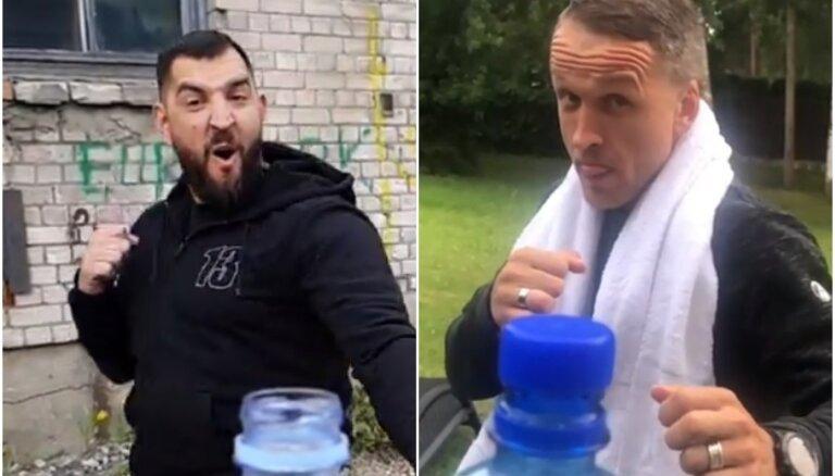 Video: Arī Vidzis un Rešetins metas 'pudeles korķīša izaicinājumā'