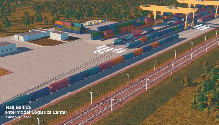Izsludināts iepirkums 'Rail Baltica' Salaspils kravu pārkraušanas termināla projektam